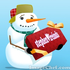 Snowman and Gift