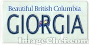 British Columbia License Plate