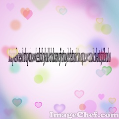 Floating Hearts Text
