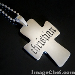 Silver Cross Engraved