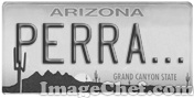 Arizona License Plate