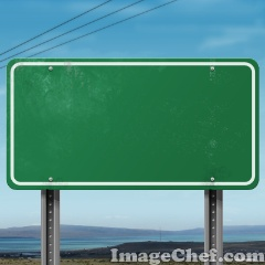 Freeway Sign Green