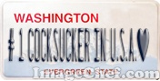 Washington License Plate