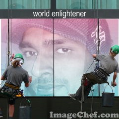 Painter with Billboard