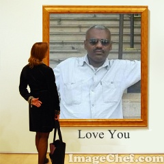 Frame with Woman