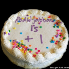 Cake With Number